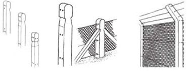 Chain link posts
